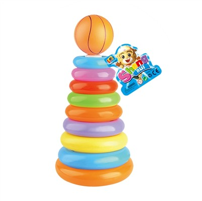 9 - layer basketball head rainbow rings