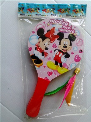 The Mickey Minnie wooden beach rackets