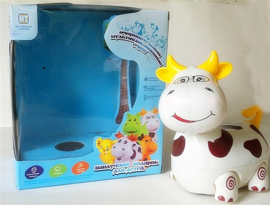 Russian light and sound electric universal cartoon cow