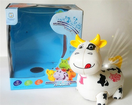 Russian light and sound electric universal cartoon Christmas cow