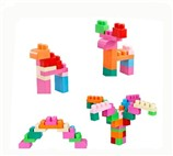 Chunk of children 3D building blocks (17pcs)